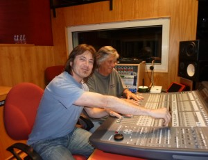 In the studio with Mike Vernon
